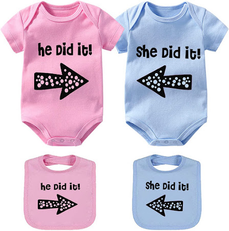 Cute and Funny Twin Baby Clothes