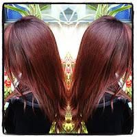 cheveux cuivrés