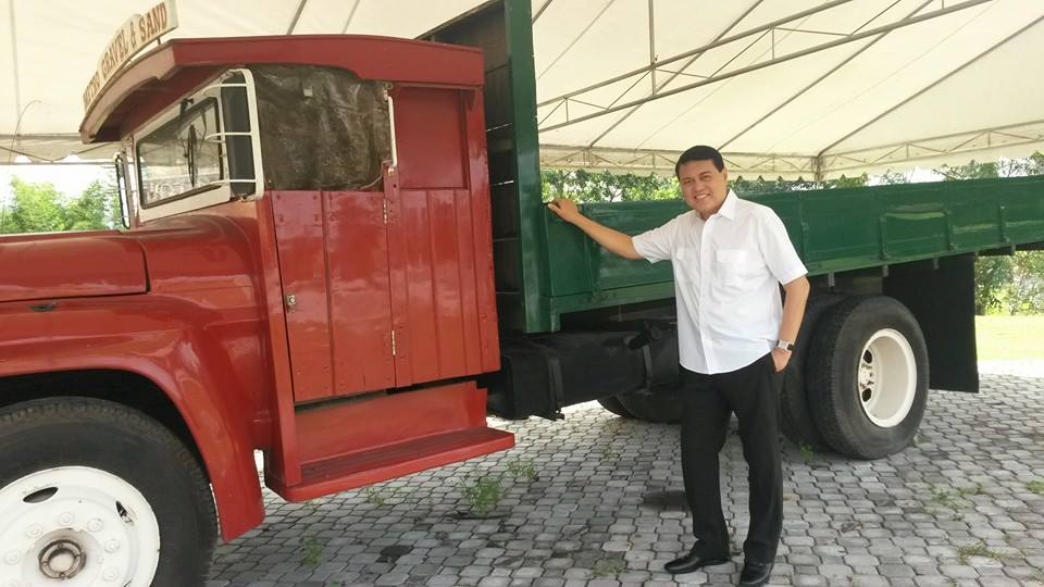 Manny Villar started his homebuilding business with this truck.