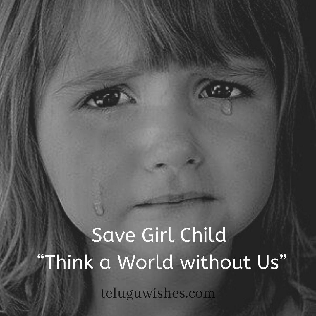 Save Girl child slogans