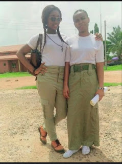 National Youth Service Corps woman on trouser