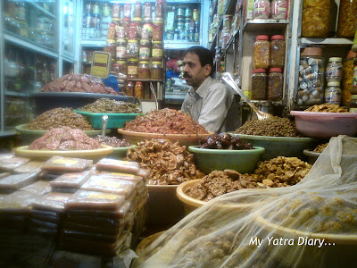 Pickle and churan shop in the market of Haridwar