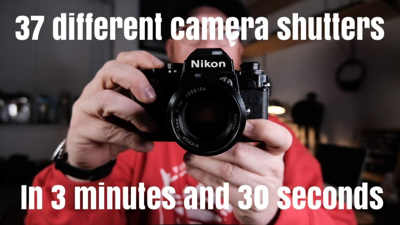 37 Different Camera Shutter Sounds in 3 Minutes and 30 Seconds