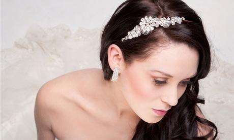 Tocado de novia con cintillo