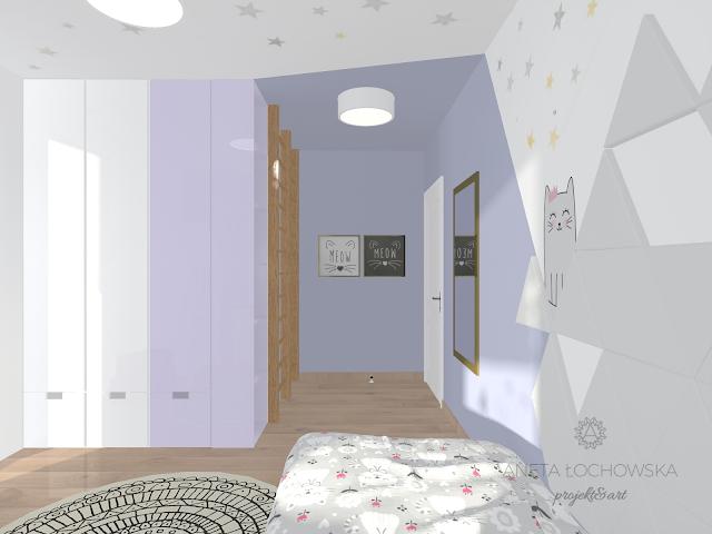 Nowoczesny i przytulny pokój dziewczynki