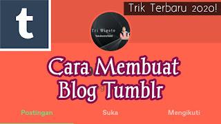 Cara Membua blog di tumblr