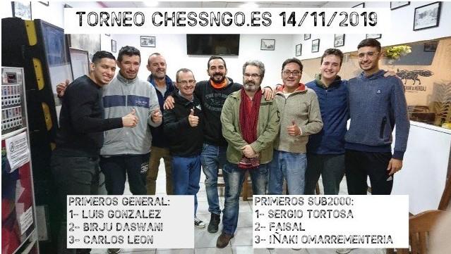 Luis González y Albert Deruelle ganan los últimos Chessngo (12 y 14 noviembre)
