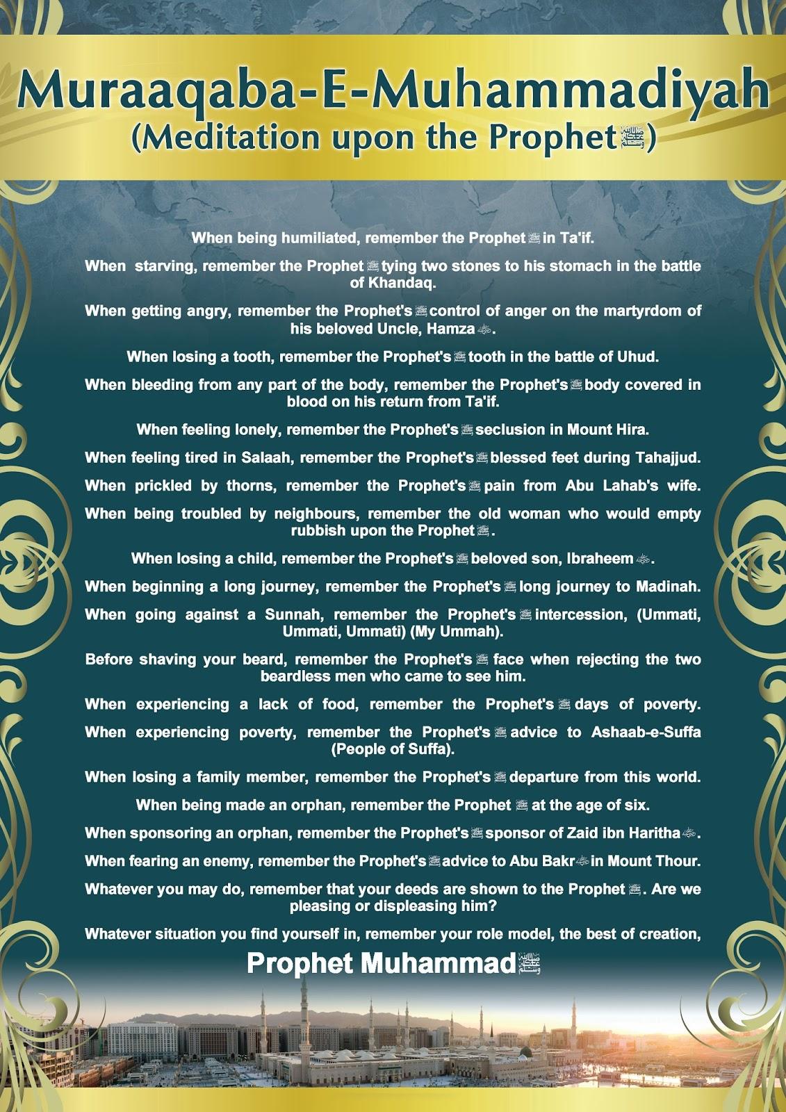 Muraaqaba-E-Muhammadiyah (Meditation upon the Prophets)
