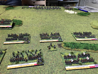 The Imperial Guard menace the British right flank