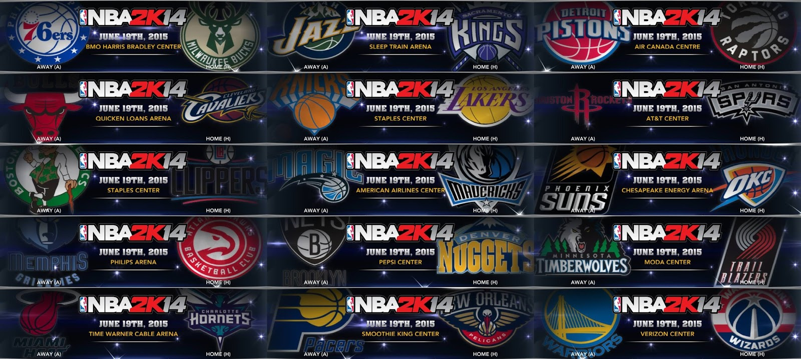NBA 2K14 2015-16 NBA Logos Patch - Partial Primary Logos