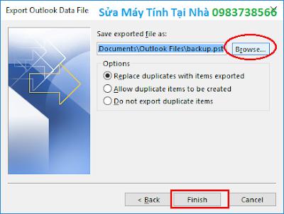 Backup dữ liệu Outlook 2016 - H05