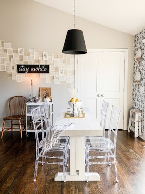 acrylic furniture in the dining room