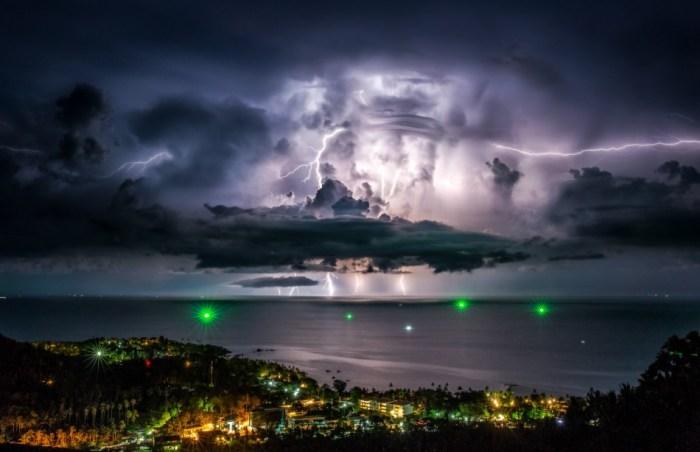 Tempestade em Samui, Tailândia