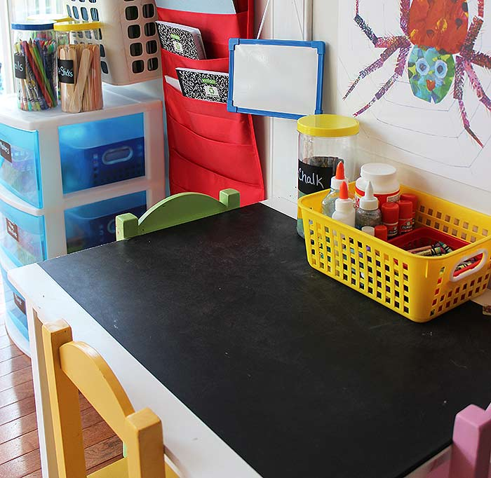 how to organize kids art supplies in a small space sunny day