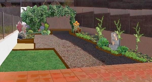 Dise o de un jard n trasero guia de jardin for Jardines con poco mantenimiento