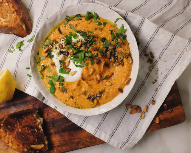 Spicy Romano Pepper and Pine Nut Muhammarah Dip