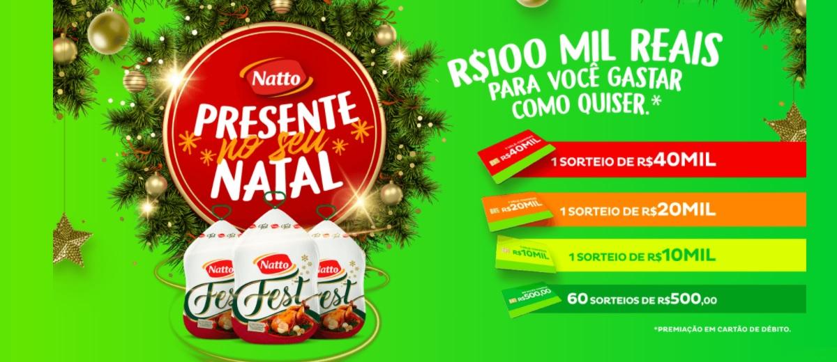 Participar Promoção Natto Fest Natal 2020 Sorteio 100 Mil em Prêmios
