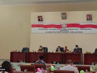 DPRD Nias Selatan Gelar Rapat Paripurna