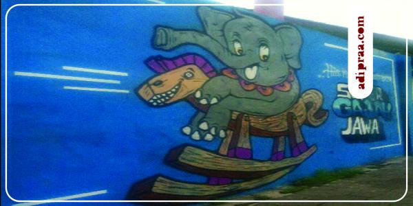 Enjoy Mural Jogja: Gajah | adipraa.com