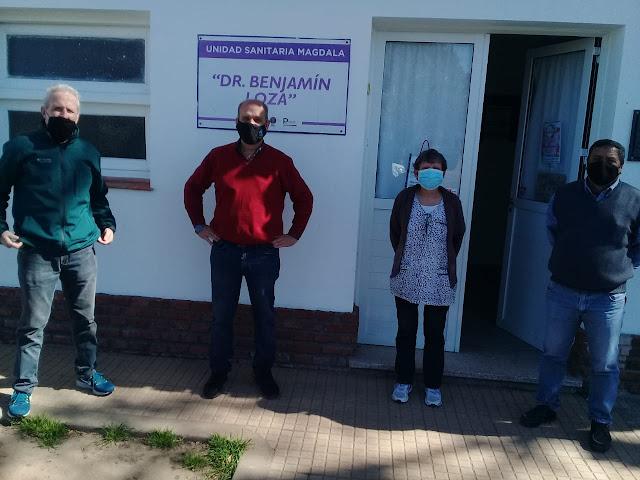 Durante el domingo Pablo Zurro recorrió las localidades de Mones Cazón, Magdala, Nueva Plata, Chiclana y Guanaco