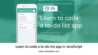 Learn to Code a to-do list Application in JavaScript
