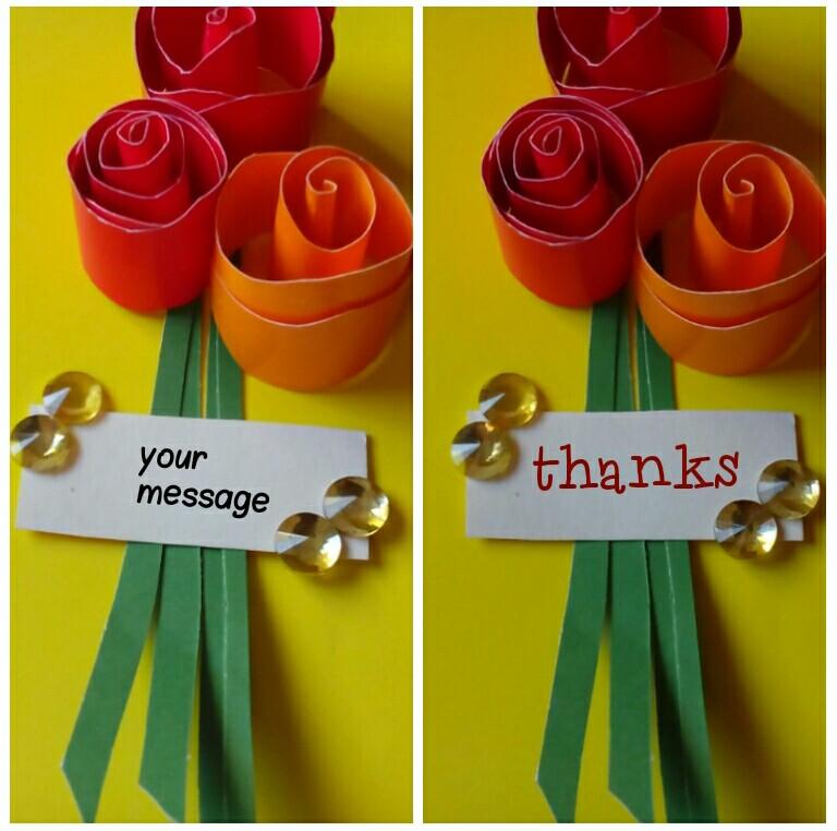 3d rose greeting card idea 3d rose flower greeting card idea m4hsunfo