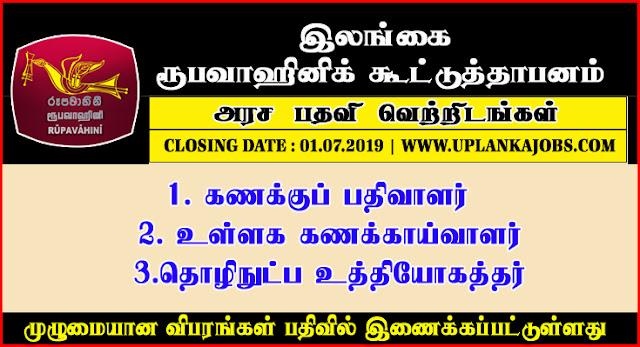 Job Vacancies At Sri Lanka Rupavahini Corporation