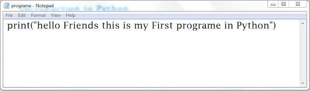 write your frst programe