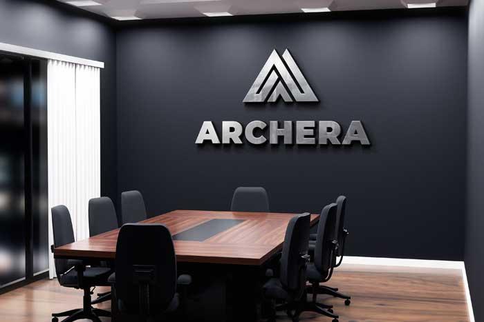 Modern Black Interior Office Wall Logo Mockup