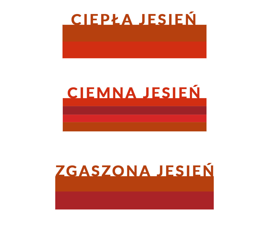 odcienie czerwieni dla jesiennych typów kolorystycznych