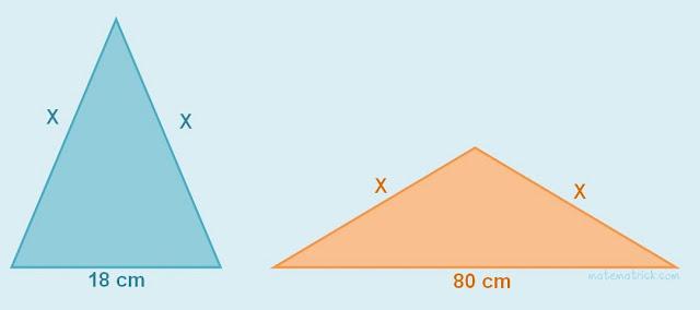 Contoh soal HOTS matematika Mencari Panjang Sisi Segitiga
