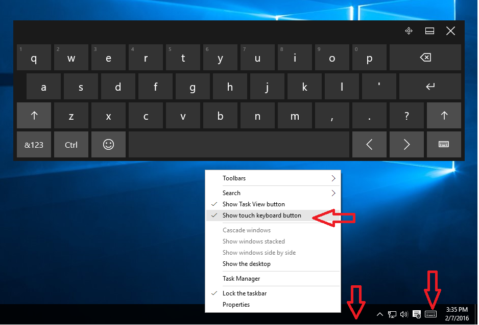 Learn New Things: Shortcut key to Open On-Screen & Touch