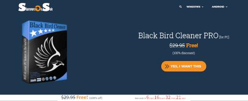 تحميل برنامج Black Bird Cleaner PRO للحاسوب مجانا لفتره محدوده