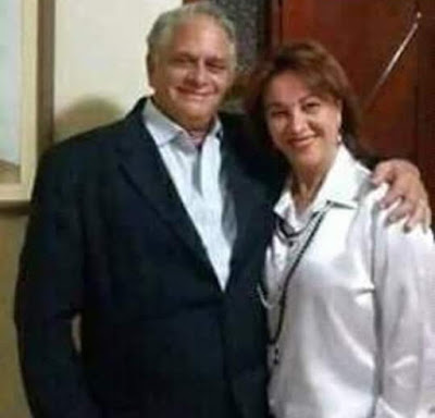 Adolfo Lopes e a companheira Palmelina