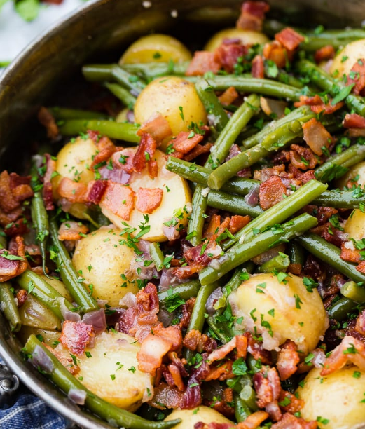 INSTANT POT GREEN BEANS AND POTATOES #vegetarian #potatoes #instant #vegan #yummy