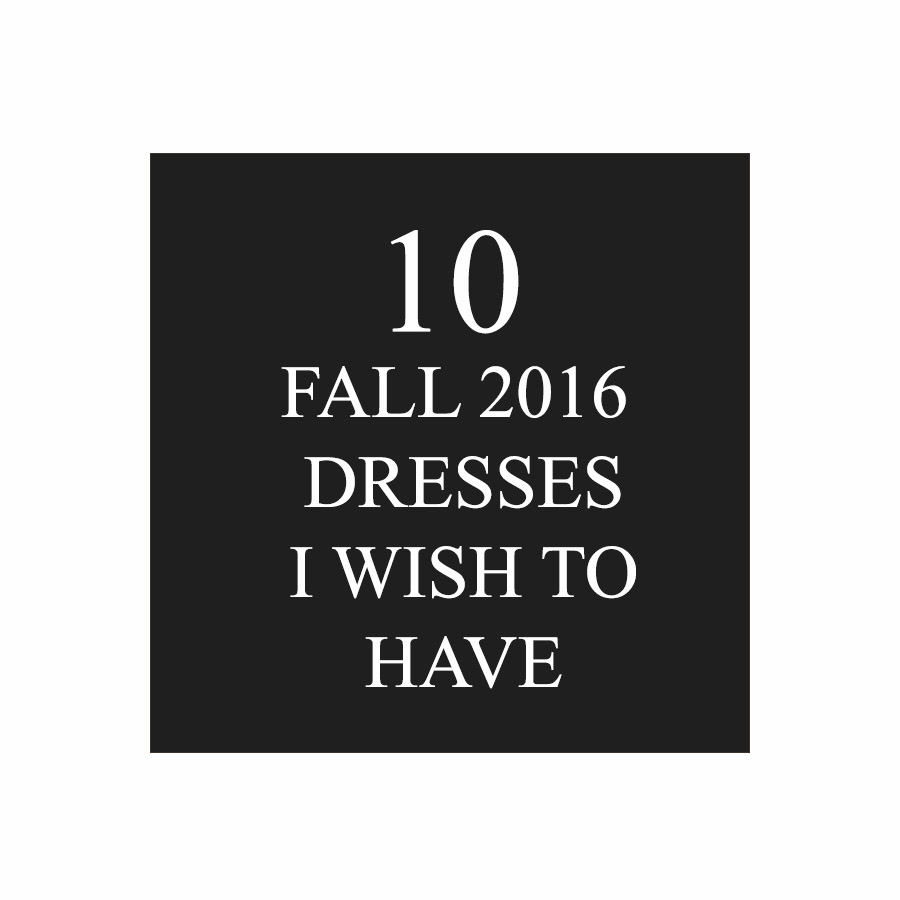 These ten dresses won't just make you want to have dresses for fall, but they would make you never want to take it off