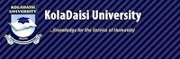 KolaDaisi University JUPEB 20202021 Admission Form