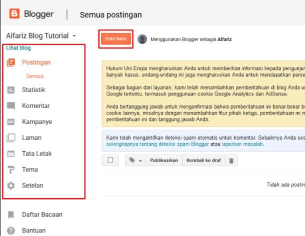 Cara Buat Blog di Blogger.com dan Panduan Ngeblog