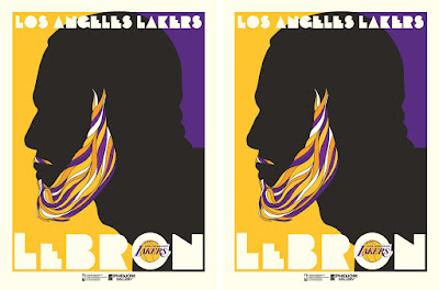 Los Angeles Lakers LeBron James Screen Print by M. Fitz x Phenom Gallery