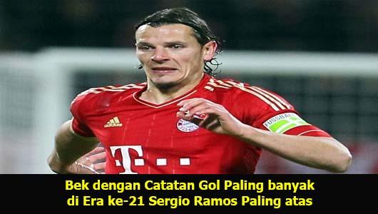 Bek dengan Catatan Gol Paling banyak di Era ke-21 Sergio Ramos Paling atas