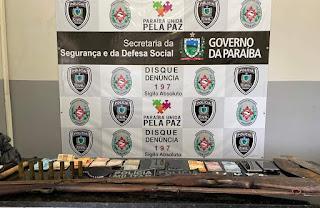 Operação das Polícias Militar e Civil realiza prisões e apreende droga, arma e munições em Juarez Távora