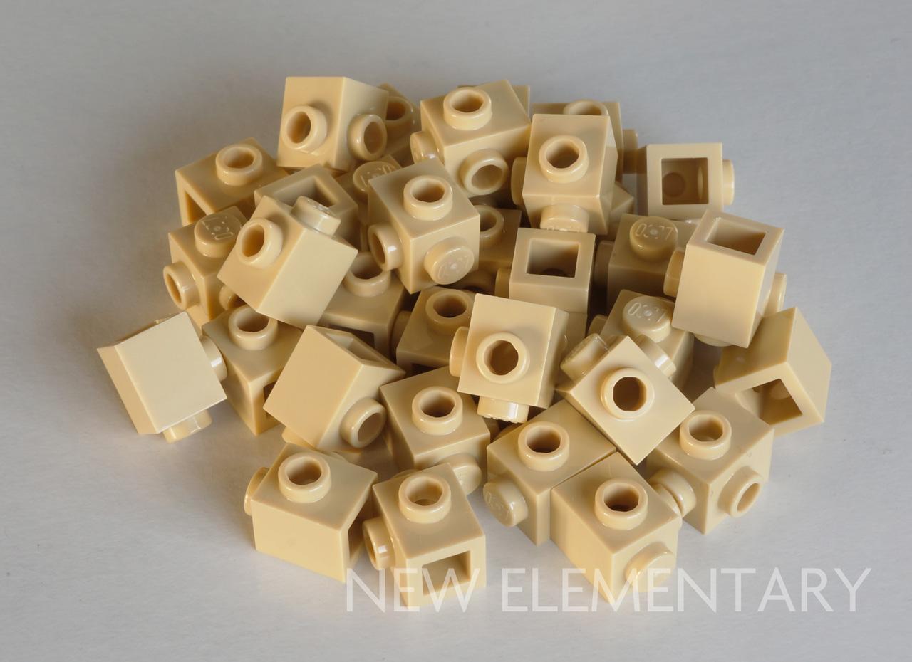 3x3 Earth 2 Dark Green Dish Bricks w// Orange Printing Brick ~ Lego ~ NEW
