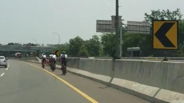 Pesepeda yang Masuk Tol Minta Maaf, Siap Menerima Sanksi Apapun