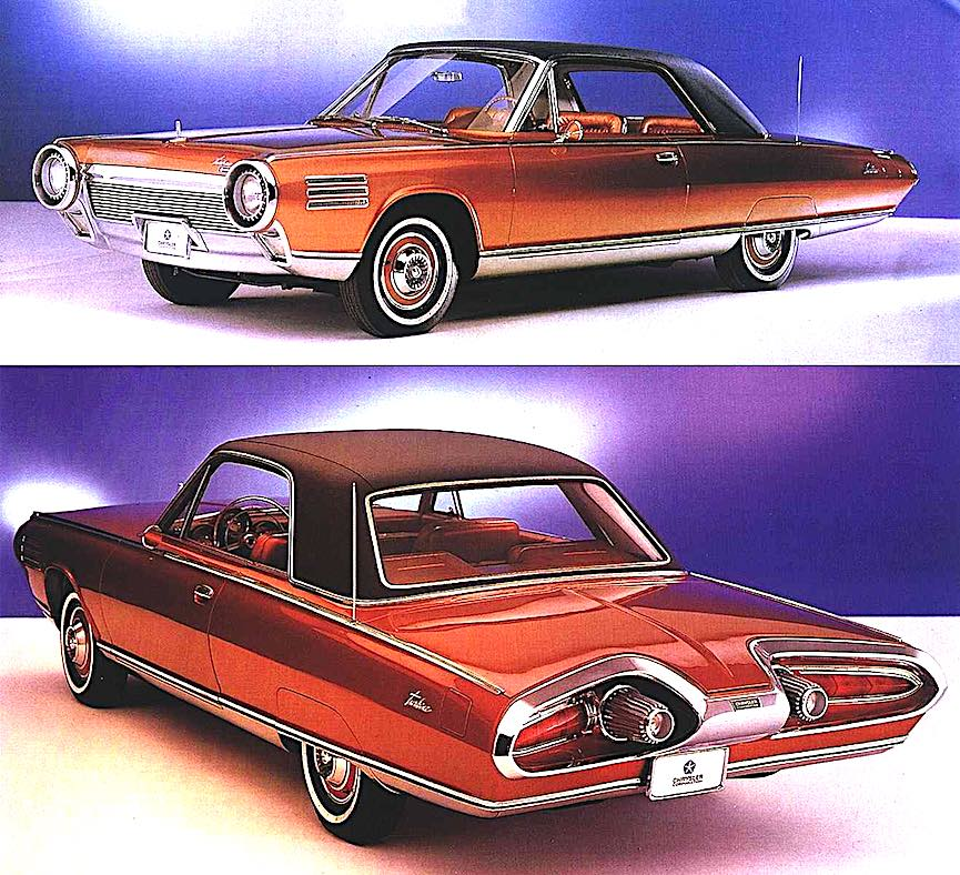 the 1963 Chrysler Turbine, a color photograph