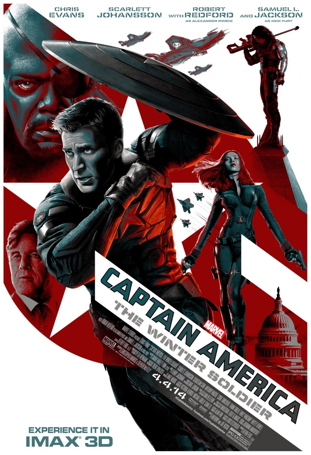 Captain America: The Winter Soldier IMAX Theatrical One Sheet Movie Poster