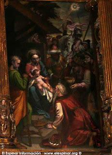 nuevo altar mayor  iglesia de el espinar san eutropio semana santa  sarga