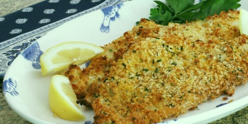 Panko-Crusted Oven Fried Haddock