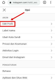 Profil akun instagram