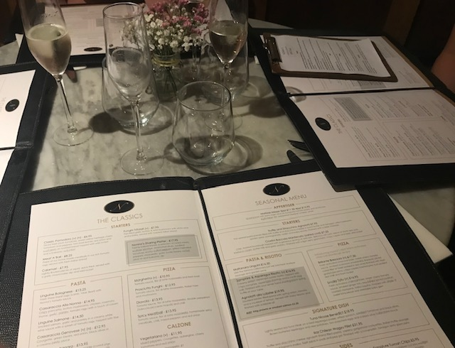 Nonna's, Woburn Sands, Mediterranean, Table, Menu,