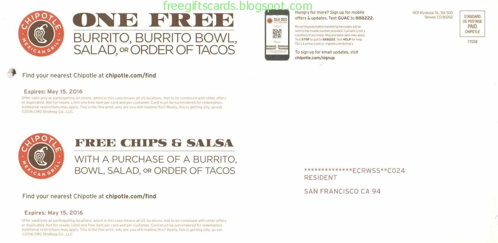 graphic regarding Chipotle Coupons Printable known as Low cost Discount codes and Promo Codes 2019: Chipotle Coupon codes